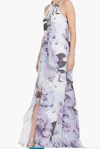 Calvin Klein Women's Halter Neck Gown with Draped